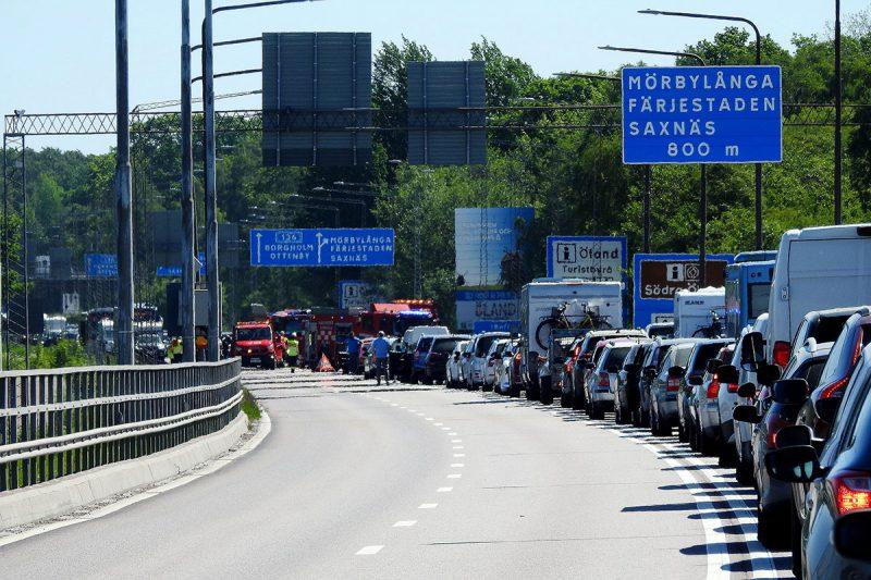 Trafikolycka Ölandsbron 111